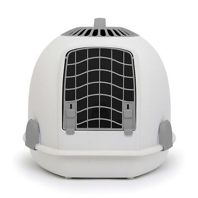 IGLOO PETS UNIQUE IGLOO 2 IN 1 CAT LOO & CARRIER TUNDRA GREY litter tray travel