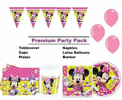 Minnie Mouse Bow-tique 8-48 Guest Premium Party Pack | Bunting | Balloons