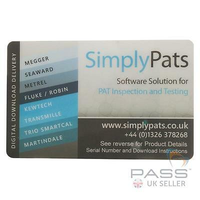 SimplyPats Universal PAT Testing Software V7 Downloadable - 2 Licences Provided
