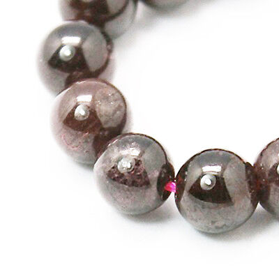 Strand Of 70+ Dark Red Garnet 2.5-4mm Plain Round Beads HA04710