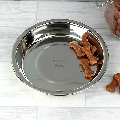 Personalised Stainless Steel Pet Bowl - Engraved Message - Dog, Cat, Puppy