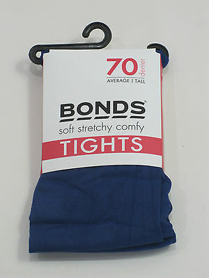 Bonds Girls Ladies 70 Denier Opaque Tights sizes Avg Tall XTall Colour Blue