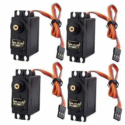 4pcs RC Servo MG995 Metal Gear For Airplane Helicopter Car Boat Plane Parts
