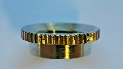 Deep Thread Round Nut for Switchcraft USA Toggle Switches  Choose Nickel or Gold