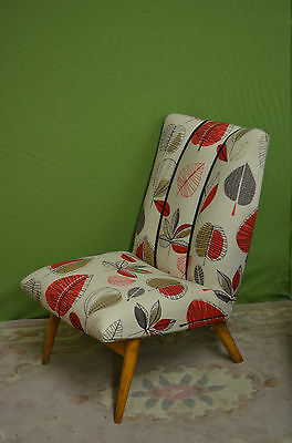 Vintage Retro Parker Knoll Mid Century Cocktail Chair Freshly Upholstered