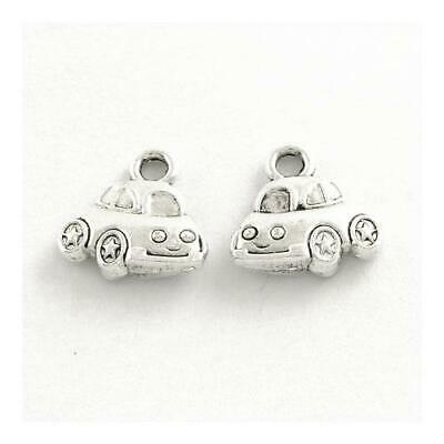 Packet of 20 x Antique Silver Tibetan 12mm Charms Pendants (Car) ZX11580