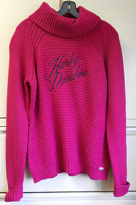 Harley Davidson Womens Burgandy Sweater 96048-14VW