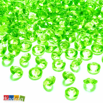 100 Diamanti Decorativi 12mm VERDE LIME - Diamantini Centrotavola Party Elegante