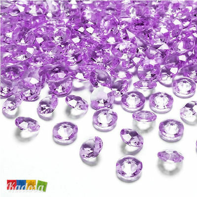 100 Diamanti Decorativi 12 mm LILLA Diamantini Centrotavola Party Elegante Lilac