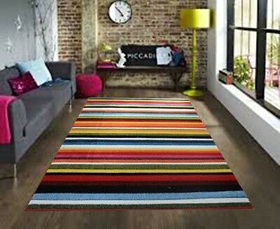 Large Modern Bright Vibrant Colours Soft Thick Cheap Rugs Long Hall Runners Rug