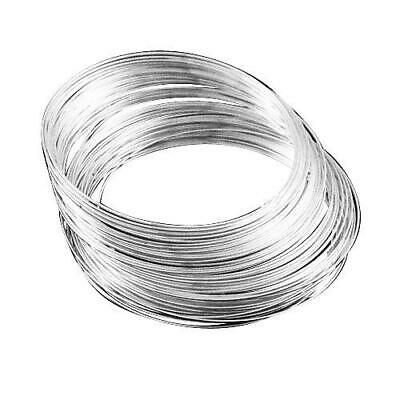 Packet 20 x Silver Steel Round Memory Wire Loops 1mm HA02705