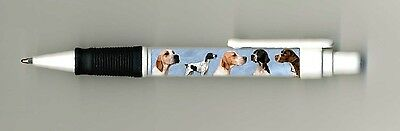 Pointer Dog Design Retractable Acrylic Ball Pen by paws2print