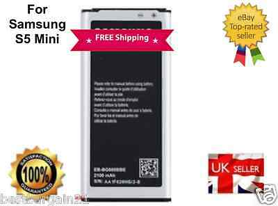 New Samsung Galaxy S5 MINI SM-G800H EB-BG800BBE Battery 2100mAh UK