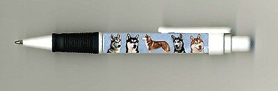 Siberian Husky Dog Design Retractable Acrylic Ball Pen by paws2print