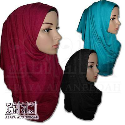 Pin Free Pull On Ready Made Instant  Plain Jersey Stretch  Hijab / Shawl /scarf