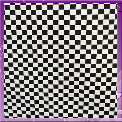 Checker Gingham Vinyl 58 Inches Wide Sold By The Yard Black / White