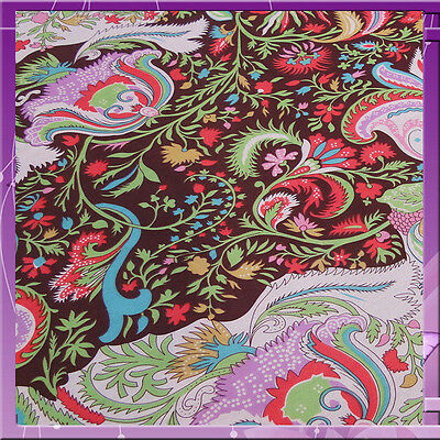 100% Rayon with Colorful Floral Print Fabric by the yard