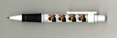Welsh Terrier Dog Design Retractable Acrylic Ball Pen by paws2print