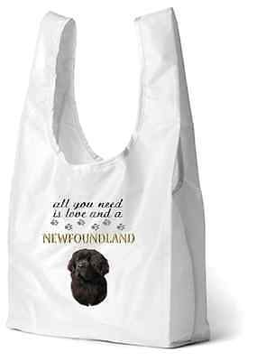 Newfoundland Dog Printed Design Eco-Friendly Foldable Shopping Bag by paws2print