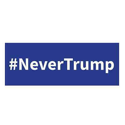 1 #NeverTrump 2016 - Anti Donald Trump Blue Bumper Sticker - FREE SHIP!