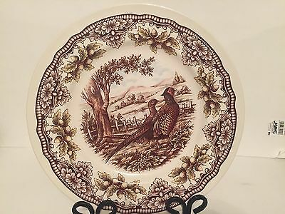 """The Victorian English Pottery Pheasant Woodland 13"""" Serving Plate New Other"""