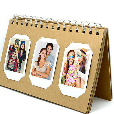 Photo Album Book style 60 Pocket for Fuijufilm Instax Mini (Brown)