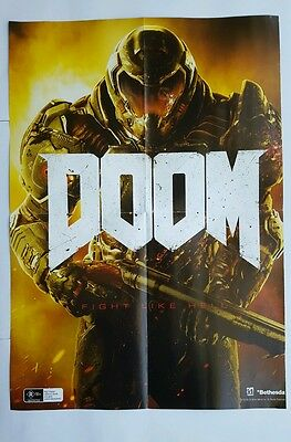 Doom Double Sided Poster + Bonus Collectable Postcards