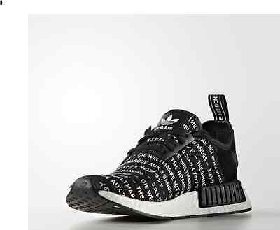 bf6e2b82e5571 ADIDAS NMD R1 3 Stripes Blackout Size 4   10.5 Men s S76519 Black ...