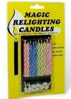 NEW Pack of Magic Relighting Birthday Candles - For Birthday Cakes