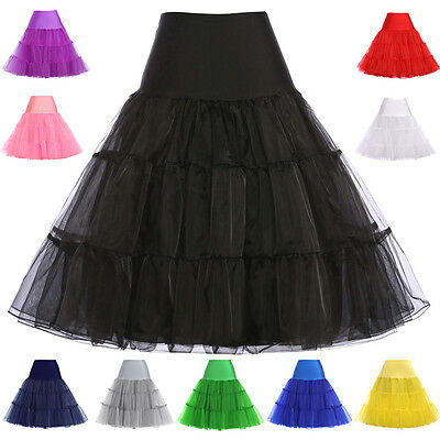 50s Petticoat Black Vintage Swing Crinoline Petticoat Skirt Dress Plus Size