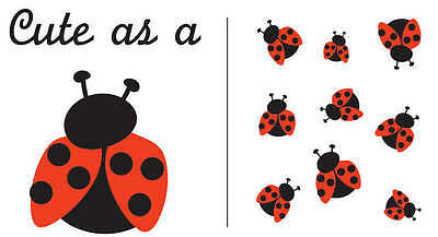 Uptown Baby Color Iron On Transfers 2/Pkg Cute As A Ladybug UBFC-92924