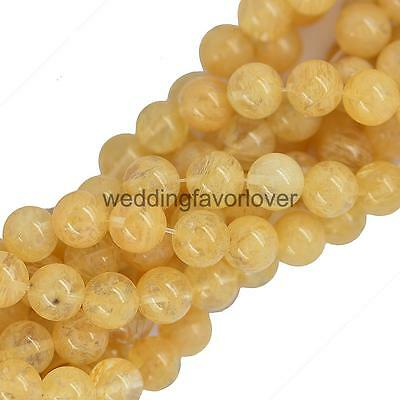 Synthetic Yellow Watermelon Tourmaline Loose Beads Spacer Round 10mm