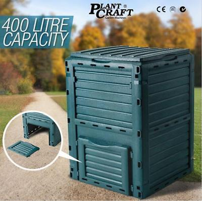 Green 400L Garden Recycling Composter Aerator Aerated Compost Bin Food Waste