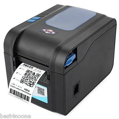Portable Free Paper Roll Aibao 80mm Label Barcode Thermal Printer with US PLUG