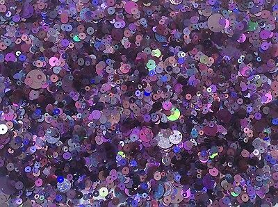 Purple / Magenta Metallic Sequins Mixed Size & Shape 80G 3000+ Pack - Sc111