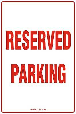 Reserved Parking Metal 450x300mm Safety Sign Road