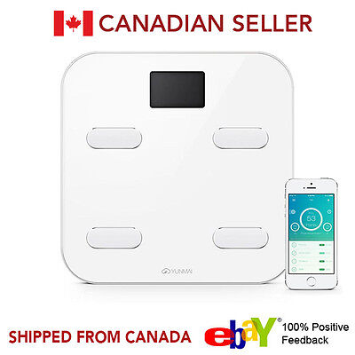 Yunmai Wireless Bluetooth Smart Scale Weight Body Digital BMI IOS Android WHITE