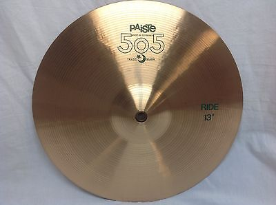 "Paiste 505 13"" Ride Cymbal/Vintage Cymbal/New With Warranty/790 GRAMS"