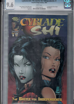 CYBLADE SHI BATTLE FOR IND. #1   CGC 9.6   1st app. of Sara Pezzini (WITCHBLADE)