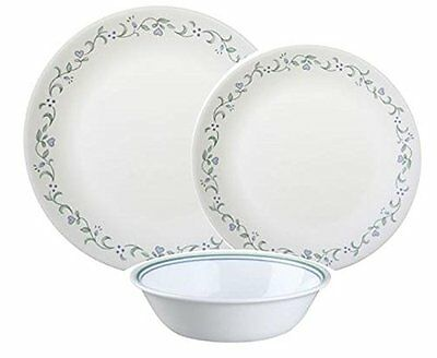 Corelle Country Cottage 12pc Dinner Set Plate Soup Bowl Dishes Dinnerware