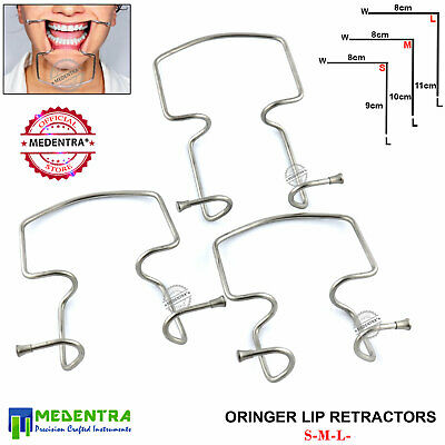 MEDENTRA Oringer Lip Cheek Retractor ORINGGER Autoclavable Dental Photography CE