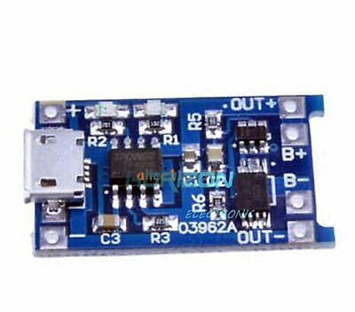 Micro USB Charger Modul 5V 1A 18650 Lithium Battery Charging Board +Protection