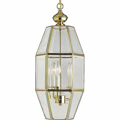 Progress Lighting P3766-10 6-Sided Foyer Fixture with Clear Beveled Glass