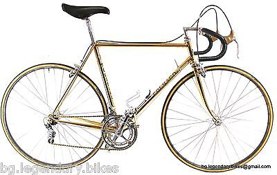 Colnago 24K GOLD plated CAMPAGNOLO fully engraved super record group pat 81