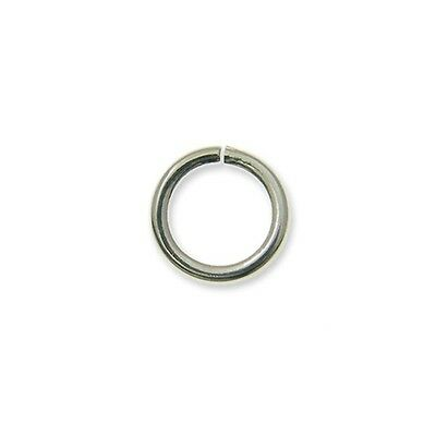 Open Jump Rings (0.8mm Diameter) Silver Plated 4mm to 9mm - Jewellery Findings