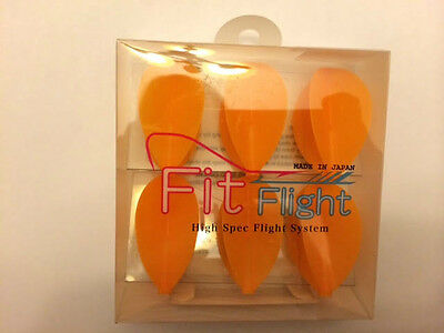 Cosmo Fit Flights Pack Of 6 Orange Pear Shape
