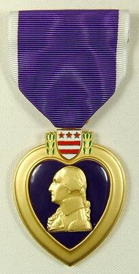 US PURPLE HEART IRAQ / AFGHANISTAN Genuine Issue Medal Mark G-23 Made in USA