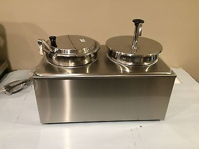 Commercial Chili Cheese Warmer Single Ladle And Pump Dispenser NSF & ETL LISTED