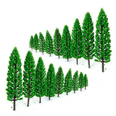 10pcs Mixed Green Model Trees Train Railway Park Scenery Landscape O Scale