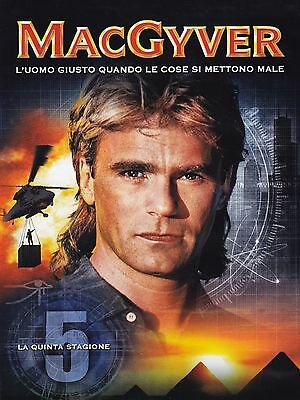 COFANETTO DVD - MACGYVER SERIE STAGIONE 5 SERIE TV (6 DVD) - Nuovo!!